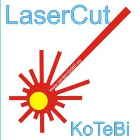 model wycięty laserem
